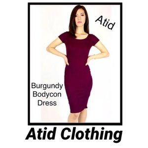 Atid Luxury Bodycon Midi Dress